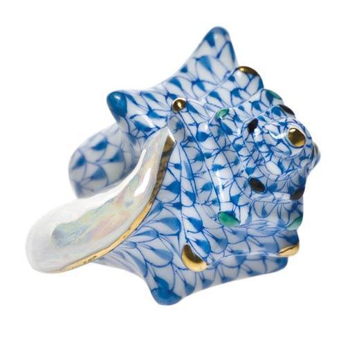 Small Conch Shell Blue