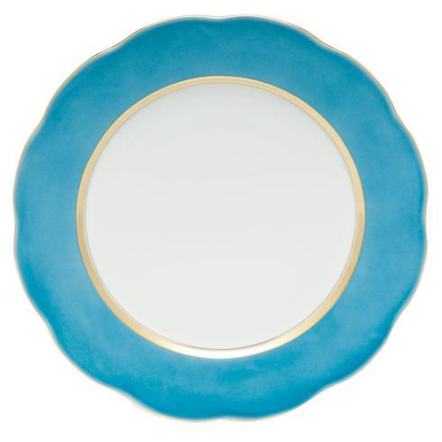 Silk Ribbon Service Plate Turquoise