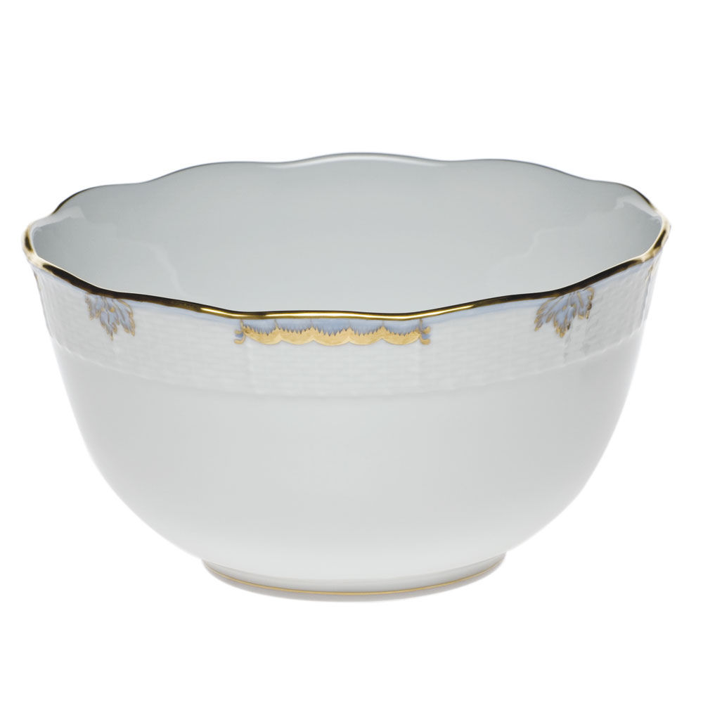Mccreery-Lane Herend Princess Victoria Round Bowl, Light Blue