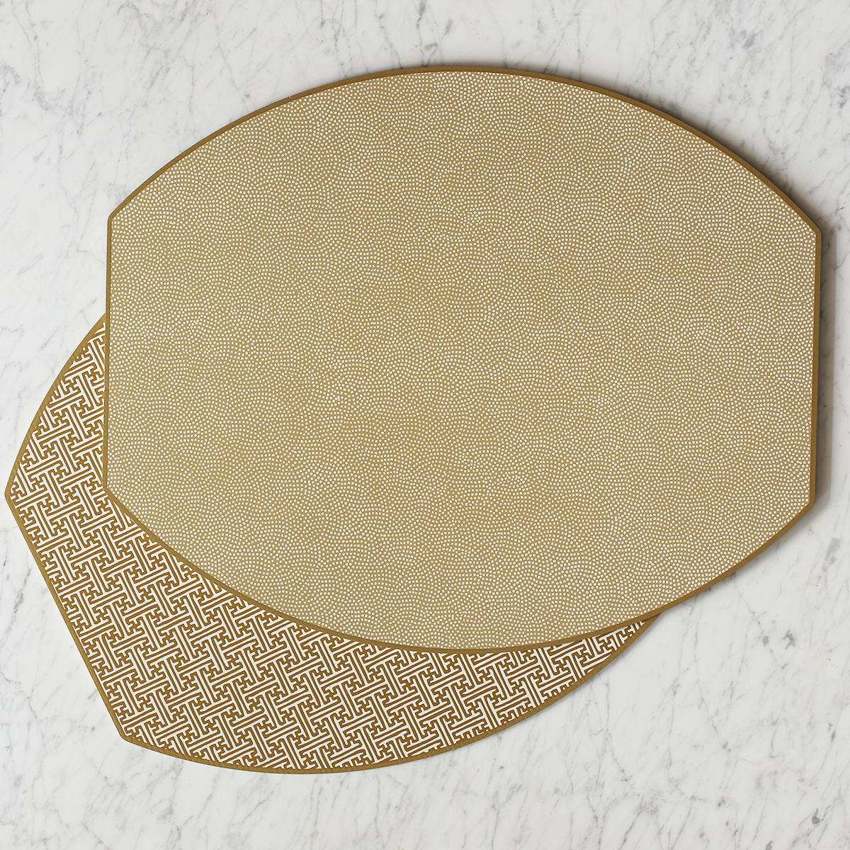 Vatterott-Bruntrager Holly Stuart Ellipse Reversible Placemat, Set of 4 | Shimmer