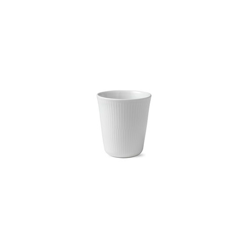 White Fluted Thermal Cup 9.75 Oz