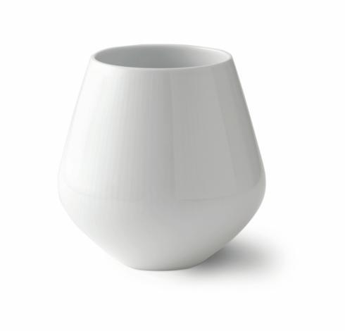 """White Fluted Vase 8"""""""