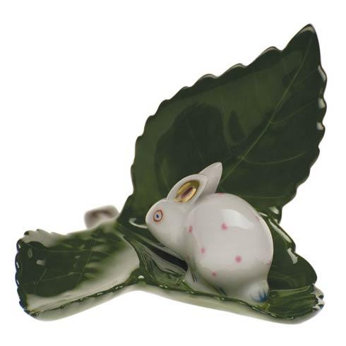 Placecard Holders Rabbit On Leaf [HERHRD-C-P---08970-0-00]