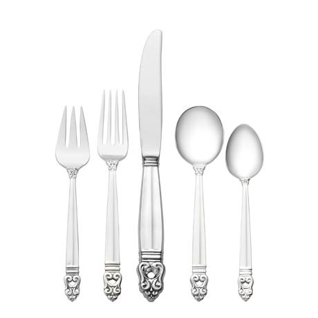 Royal Danish 5 Piece Place Setting with Cream Soup Spoon [INTLBD-I5391528]