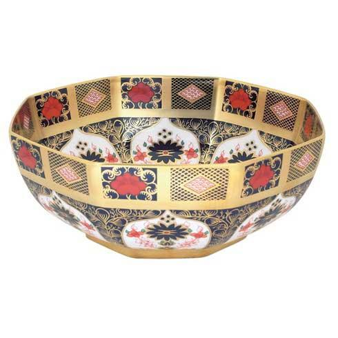 Old Imari Solid Gold Band Gift Boxed Octagonal Bowl [ROYDVC-SGBBO09513]