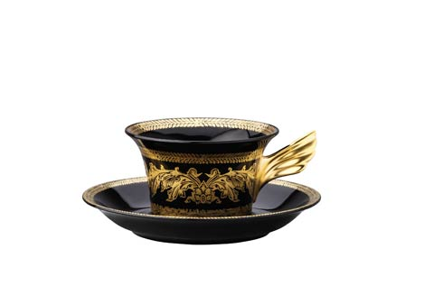 25 Years Gold Baroque Tea Cup & Saucer