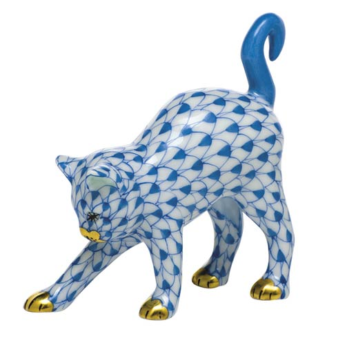 Cats Arched Cat-Blue