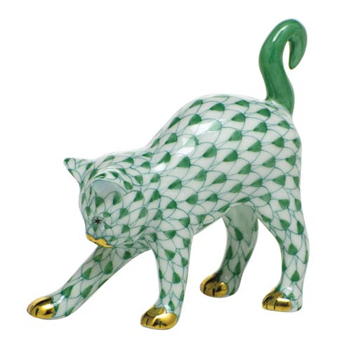 Cats Arched Cat-Green