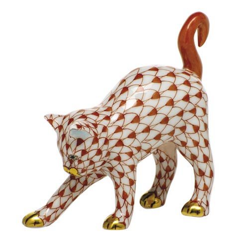 Cats Arched Cat-Rust