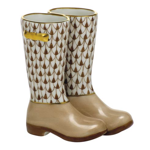 Miscellaneous Pair of Rain Boots-Chocolate