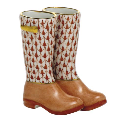Miscellaneous Pair of Rain Boots-Rust