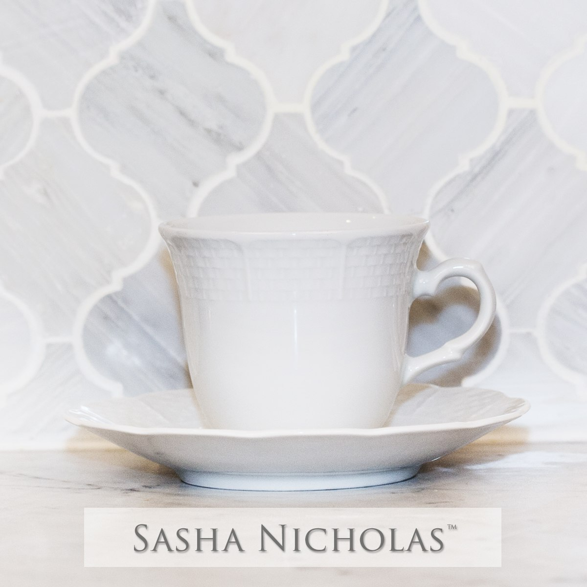Melissa & Connor Weave Simply White Cup+Saucer