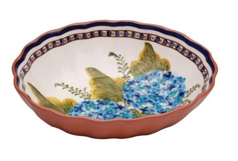 Alentejo Terracota Hortensia Oval Scalloped Bowl