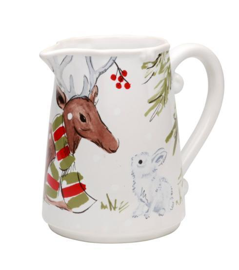 Deer Friends Pitcher White