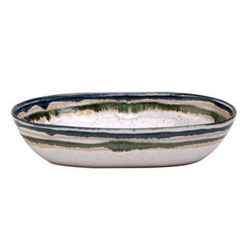 Sausalito White Medium Oval Serving Bowl