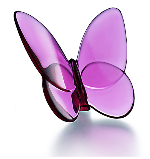Baccarat Lucky Butterfly-Peony Pink