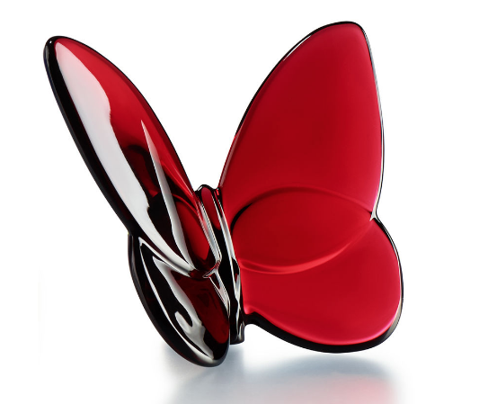 Baccarat Lucky Butterfly-Red