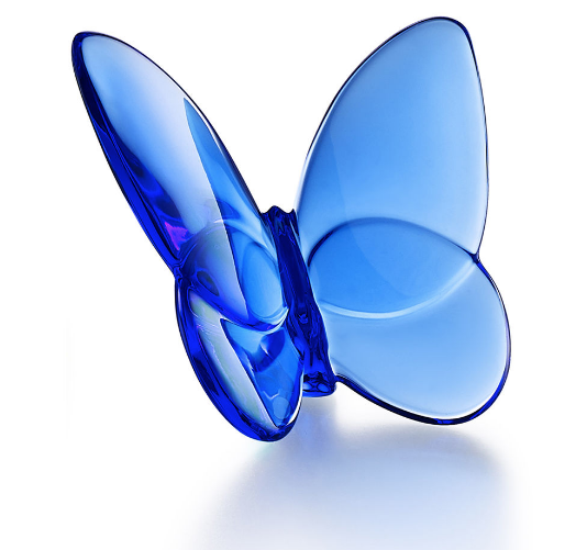 Baccarat Lucky Butterfly-Blue
