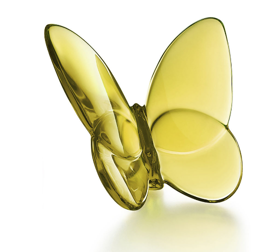 Baccarat Lucky Butterfly-Amber