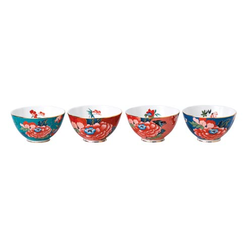 "Paeonia Blush Bowl 4.7"" Set of 4"