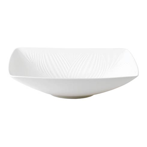 White Folia Sculptural Bowl 10.2""