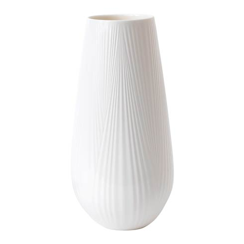 White Folia Vase Tall 11.8""