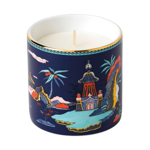 Wonderlust Blue Pagoda Candle (Lotus & White Jasmine)