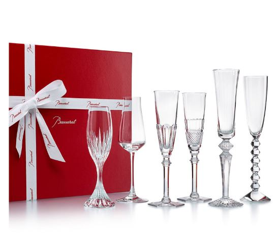 Baccarat is among the finest hand blown, hand cut crystal from France. Delight your guests with stunning Baccarat crystal glasses or enliven your table with outstanding wine and water glasses. Enjoy these beautiful Baccarat pieces yourself or gift to those special to you as a part of their lifelong collection.
