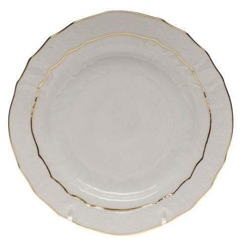 Elizabeth Lillis Herend Golden Edge Bread & Butter Plate