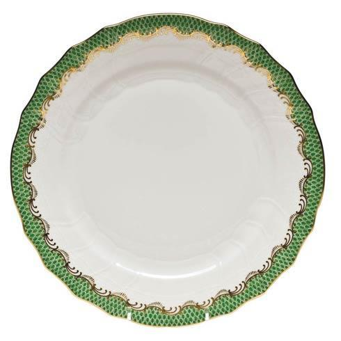 Anderson-Guri Herend Fish Scale Jade Dinner Plate