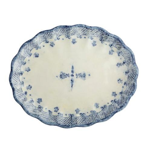 Burano Scalloped Oval Platter