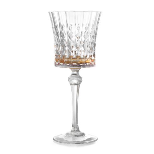 Serena Amber Water Glass