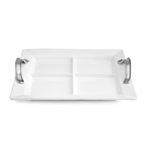 Tuscan Divided Square Tray