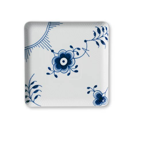 Flutes Body Collections Blue Fluted Mega Large Square Plate
