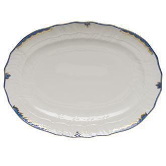 Jordan-Brien Herend Princess Victoria Blue Platter