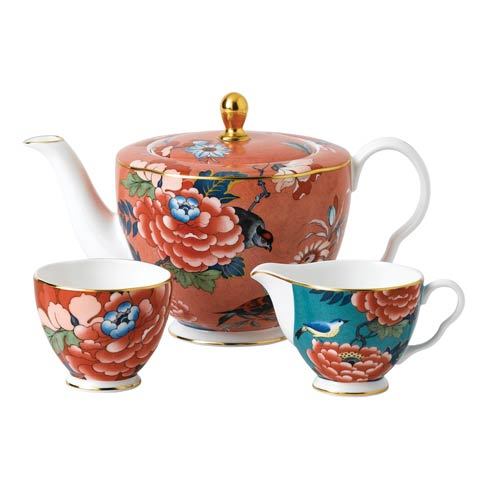 Paeonia Blush 3 - Piece Tea Set