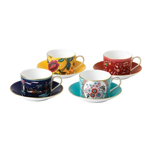 Wonderlust Teacup & Saucer Set/4