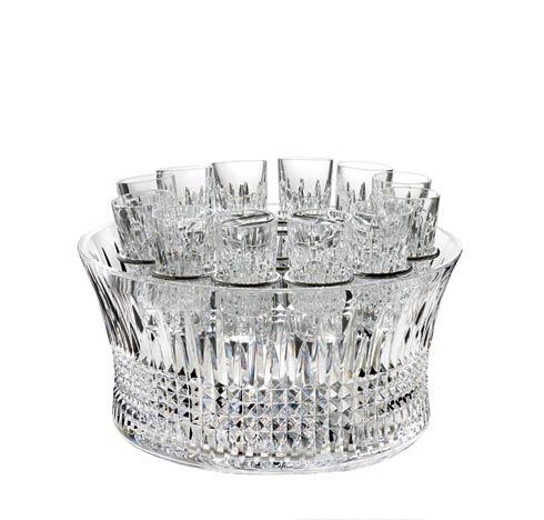"""Lismore Diamond Vodka Chiller 12"""" With Shot Glass 2 oz Set/12"""