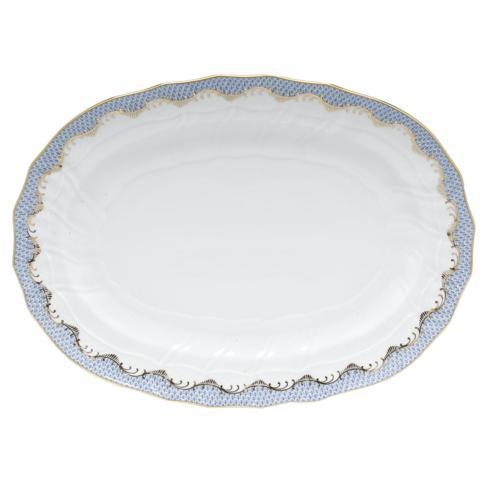 Passano-Cagney Herend Fish Scale Light Blue Platter