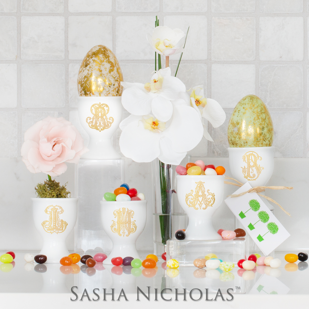 Set of Four Sasha Nicholas Egg Cup - Limited Edition