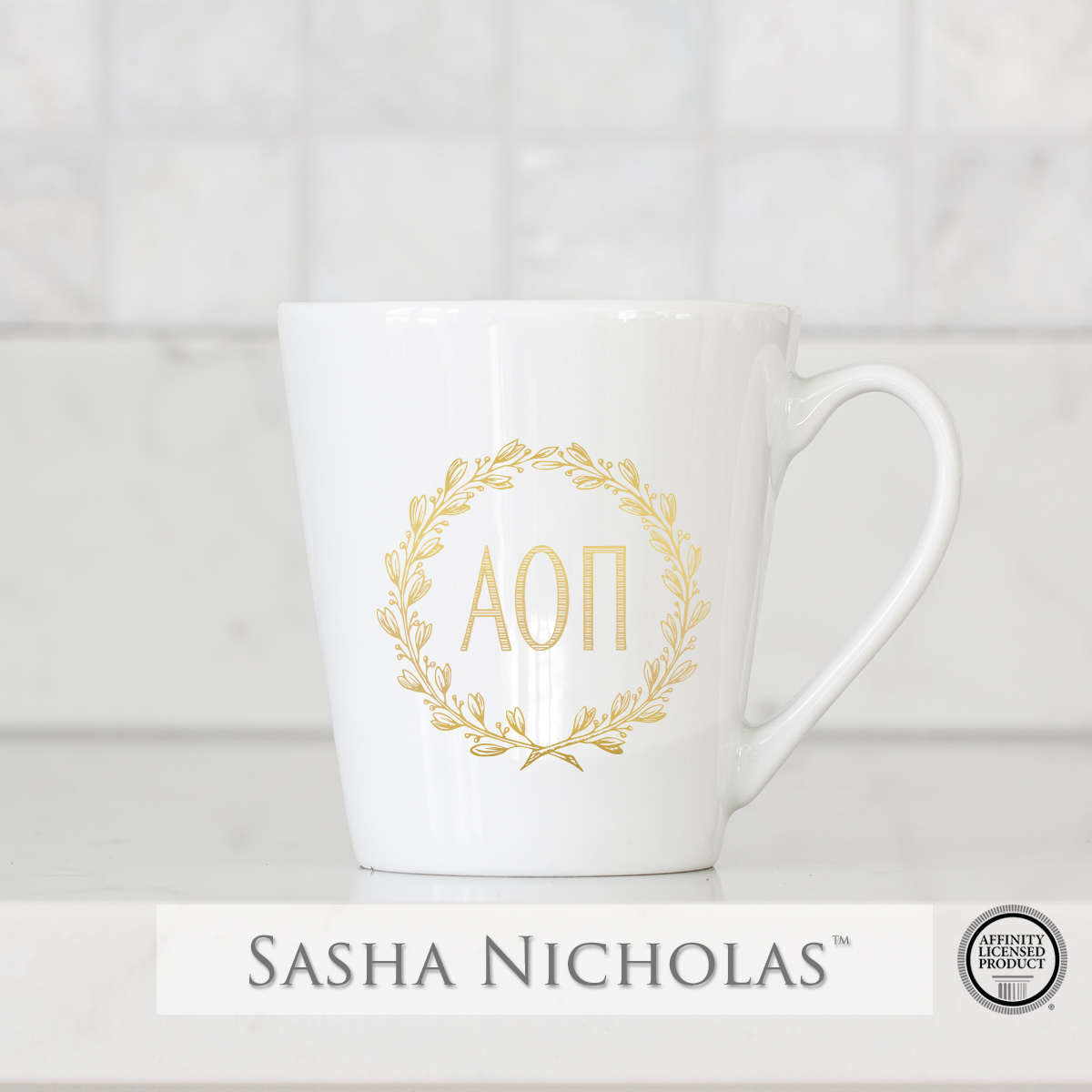 Alpha Omicron Pi - Tapered Mug