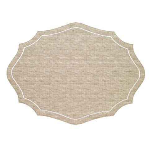 Byzantine Beige White Mats - Pack of 4