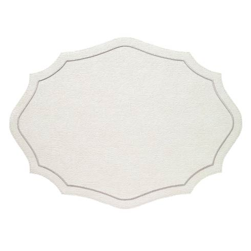 Byzantine White Silver Mats - Pack of 4
