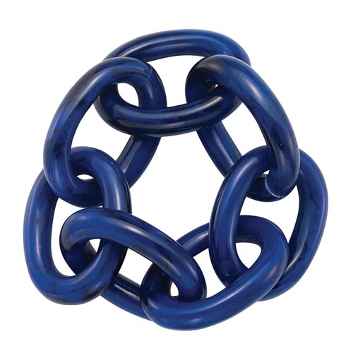 Chain Link Navy Napkin Ring - Pack of 4