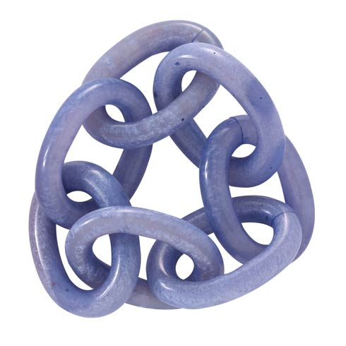 Chain Link Periwinkle Napkin Ring Pack of 4