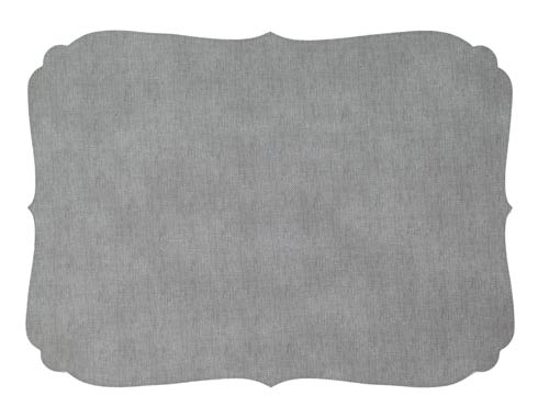 Curly Gray Oblong Mat - Pack of 6
