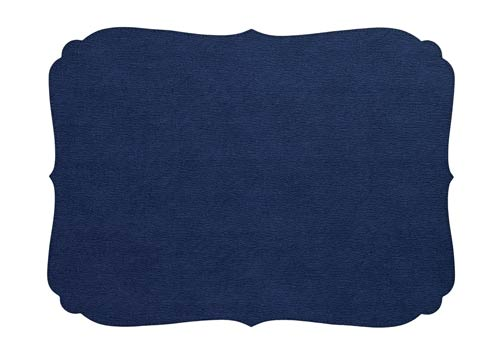 Curly Navy Oblong Mat - Pack of 6