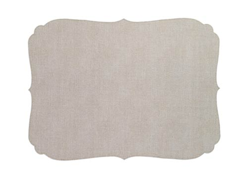 Curly Oatmeal Oblong Mat - Pack of 6