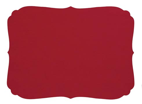 Curly Red Oblong Mat - Pack of 6