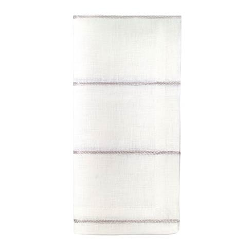 "Metallic Thread Silver 22"" Napkin - Pack of 4"
